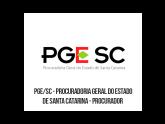 PGE SC - Procuradoria Geral do Estado de Santa Catarina - Procurador